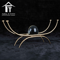 Custom home art furnishing articles iron art crystal floating ball decoration