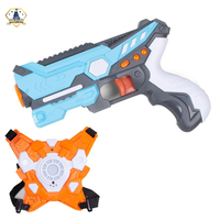 Infrared Laser Tag Blasters Game Gun Toys with Vest Infrared Battle Mega Pack Set for indoor and Outdoor Group Activity Fun