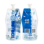 Water Pouches Drink Pouches Bottle Shaped Empty Resealable Clear Adult 1 Liter 5 Liter Liquid Drinking Water Pouches With Spout