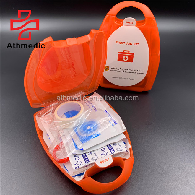 2020 Athmedic logo custom premiums plastic case promotional first aid kit smart first aid kit travel first aid kit