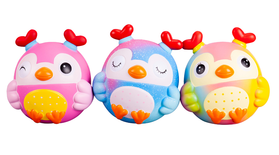 Factory Wholesale High Quality Super Soft Slow Rising Cartoon Galaxy Rainbow Jumbo Owl Animal Squishy Stress Relief Squeeze Toys