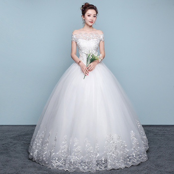 dress for wedding party women crystal applique bridal gowns wedding dress LSYNM070