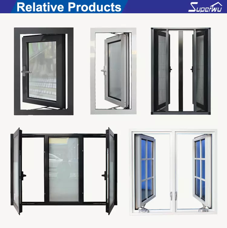 North America NFRC and NOA standard high quality double glass double glass aluminum casement windows