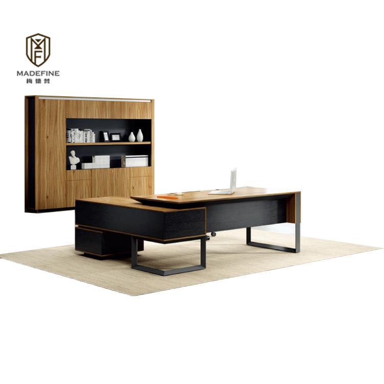 MADEFINE mobilier de bureau Concurrentiel Prix l forme bureau commercial moderne exécutif unique de bureau en bois