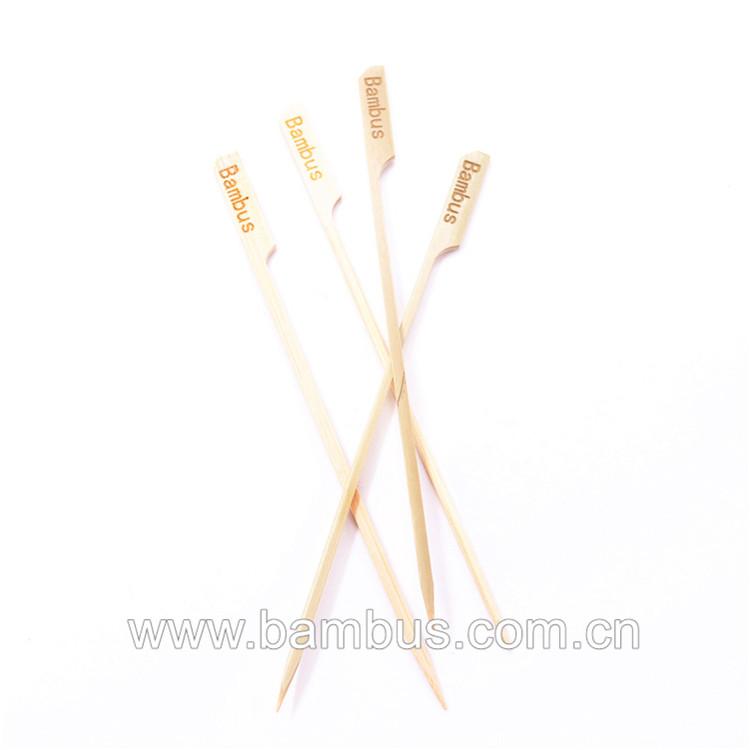 Bambus गर्म बिक्री कॉकटेल उठाता Oem बांस मकई कुत्ते बांस Bbq बांस बिक्री चप्पू कटार बॉक्स के साथ चिपक जाती है