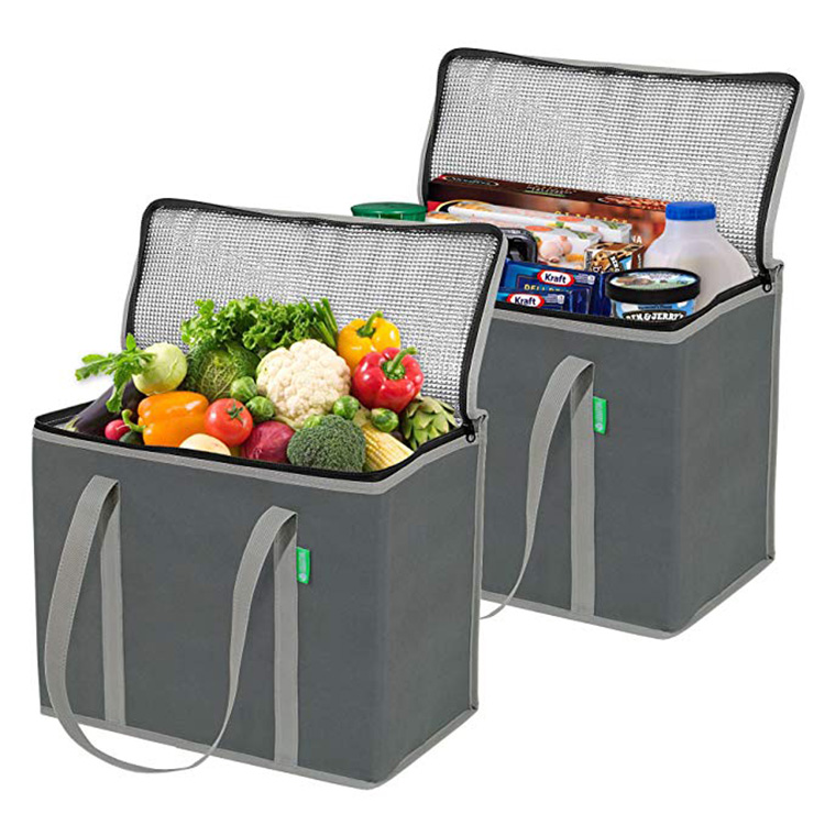 Wholesale extra large custom logo printed insulated food delivery cooler bag