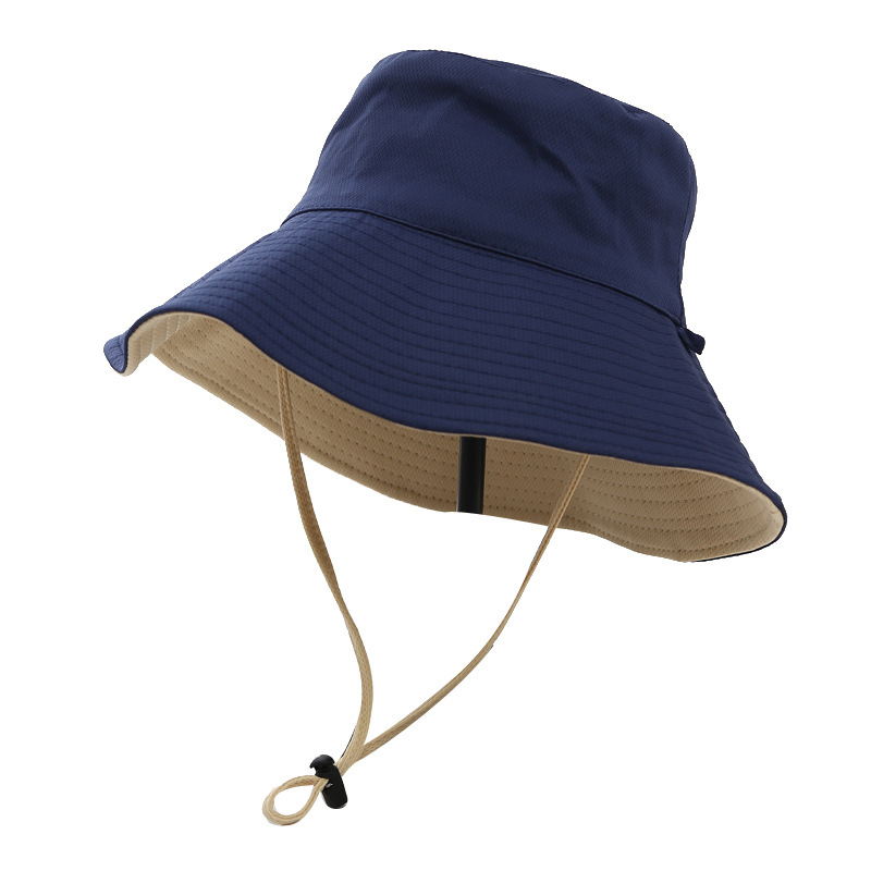 manufacture wholesale custom logo 100% cotton plain Fishing Fisherman hike Bucket hat cap with strings