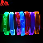 Kids Women Cheap Party Supplies Led Light Wristband Bracelet Custom Logo, Concert Bracelet Glow In The Dark