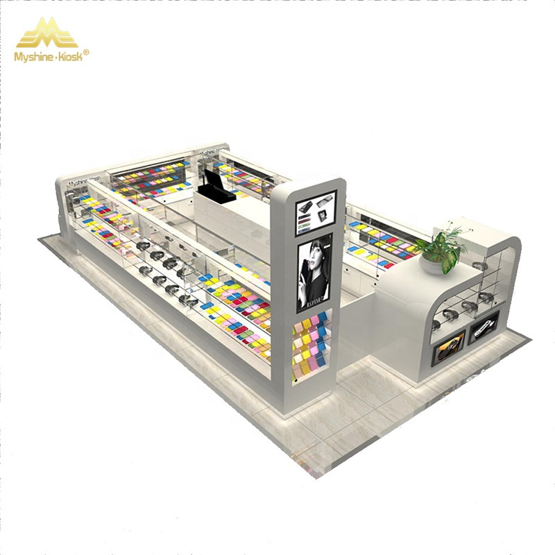Retail Cell Phone Accessories Display Stand Phone Accessories Showcase mall kiosk for phone display showcase