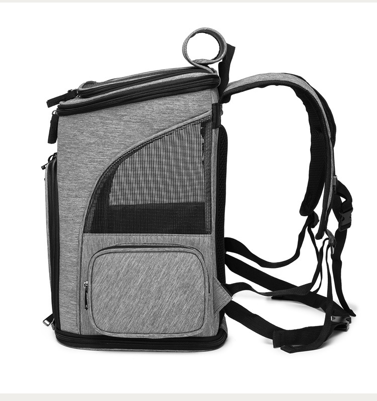 Portable Travel Outdoor Vebtilated Mesh Cat Carrier Bag Puppy Small Dog Backpack Airline Approved