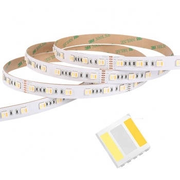 5 in 1 RGBWW led strip light 18w/m smd 5050 led tape DC24V 60leds/m RGBCCT adjustalbe led light strip