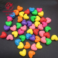 pony beads Heart Shape wholesale 12mm Large Hole Plastic Beads for kids
