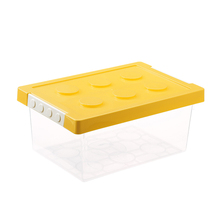 Midden Size Geel <span class=keywords><strong>Kleur</strong></span> Plastic Lego Toy Organizer voor kids baby