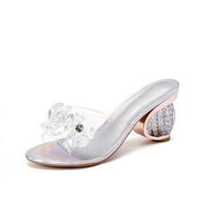 Летние женские босоножки; Женская обувь на высоком каблуке; Женская обувь на прозрачном каблуке с открытым носком; Дизайнерские модные повс...(Китай)