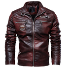 Men Leather Euro Size Fashion Style Fleece Lined PU Men Leather Jacket Biker Jacket
