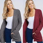 E78 Popcorn cardigans with pockets ladies cardigan sweaters 2019 cardigan sweater