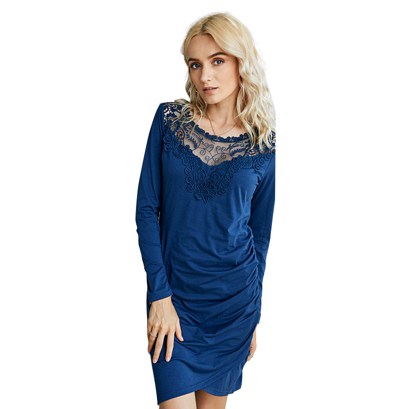 2020 Summer new V-neck <strong>lace</strong> thin casual dress autumn <strong>women's</strong> <strong>clothing</strong>