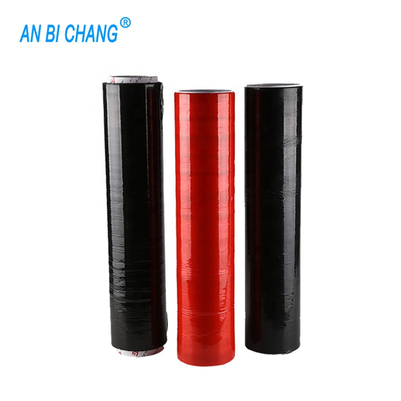 Schwarz rot LLDPE polyethylen klar transparent pallet stretch wrap film