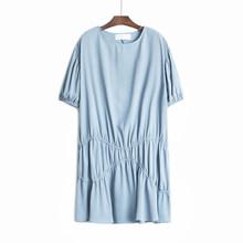 Женское плиссированное платье EAM, зеленое платье большого размера с завязками и круглым вырезом, с рукавом средней длины, на весну-лето 2020 ...(Китай)