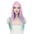 Costume Wig Ombre Pink Long Straight Wigs for Women Wig Girls Cosplay Party Synthetic Hair Wigs