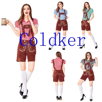 Cosplay Costumes Women'S Fashion German Beer Festival Maid Costume Girls Two Piece Sets Bavarian Oktoberfest Costume Sexy Pants
