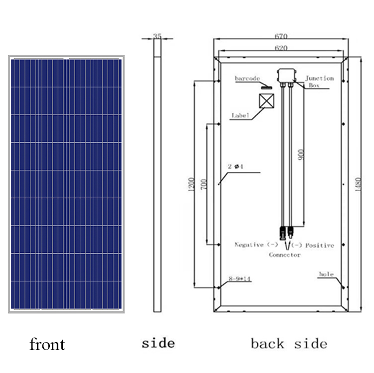 Reliable quality 36 cell polycrystalline solar panel 140w 18v for sale