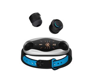 2020 new arrival T90 relojes inteligentes bluetooth smart watch with TWS earphone 2in1 fitness watch