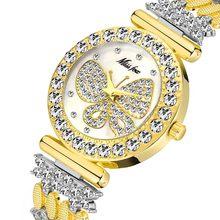 MISSFOX, женские часы, роскошный браслет из нержавеющей стали, Серебряные наручные часы с бриллиантами, Eleganc, Hello Kitty, часы с бабочками, подарок дл...(Китай)