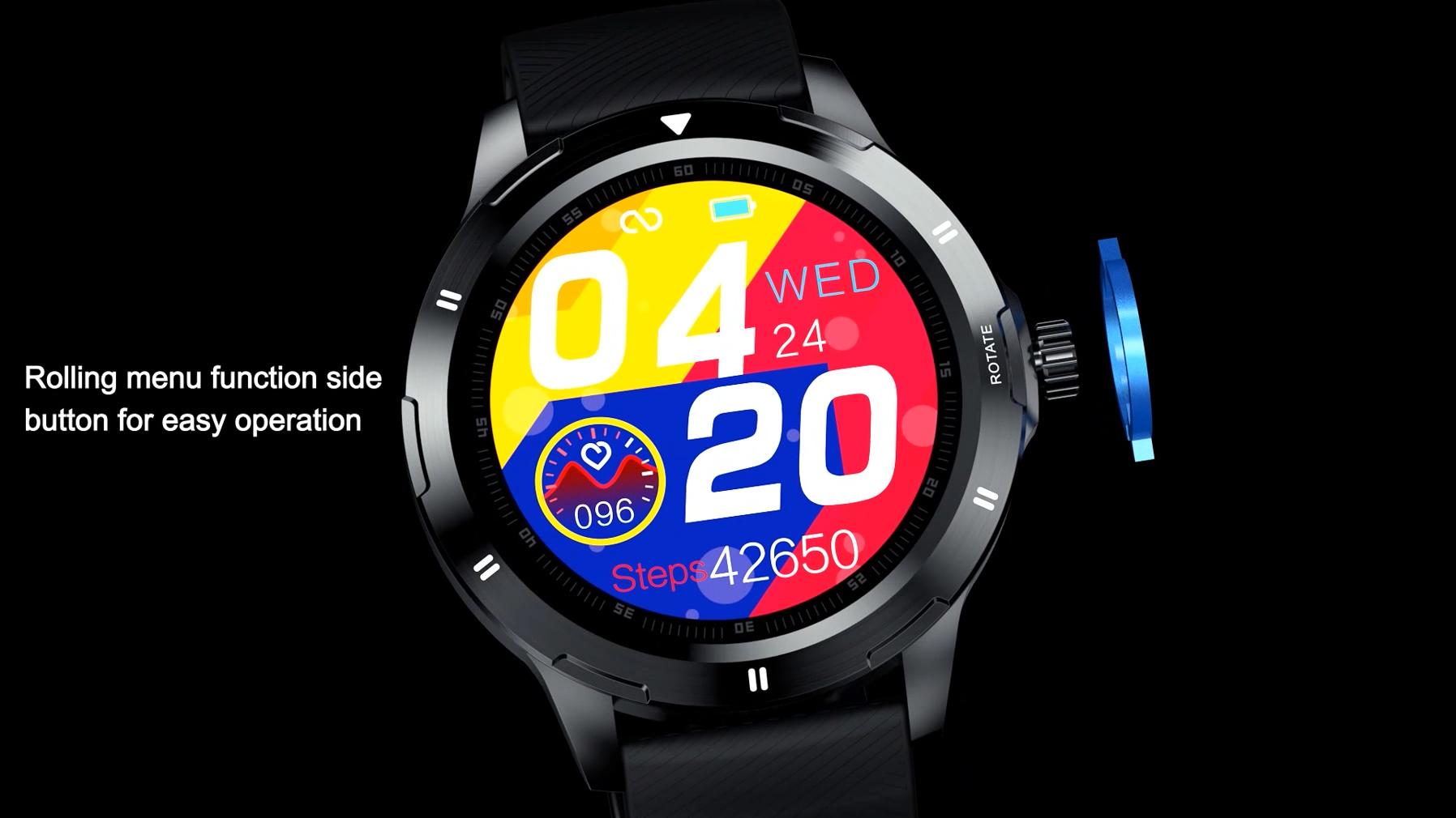 2020 New K15 Thông Minh Đồng Hồ 1.28 Inch IPS Đầy Đủ Màn Hình Tròn FitCloudPro Nhiệt Độ Trái Tim Tỷ Lệ Tracker SmartWatch