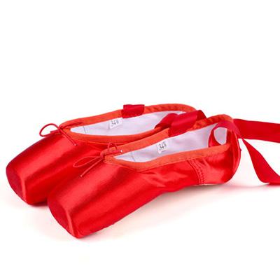 Satin Dance Shoe Ballet Pointe Shoes For Women