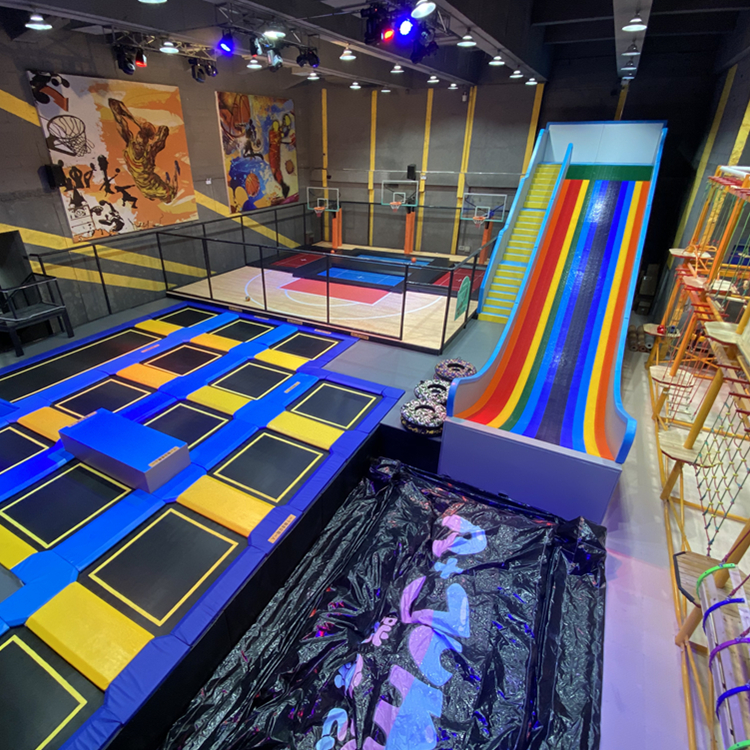 Free Jump Trampoline Manufacturer Indoor Trampoline Park Zone With Slam Dunk