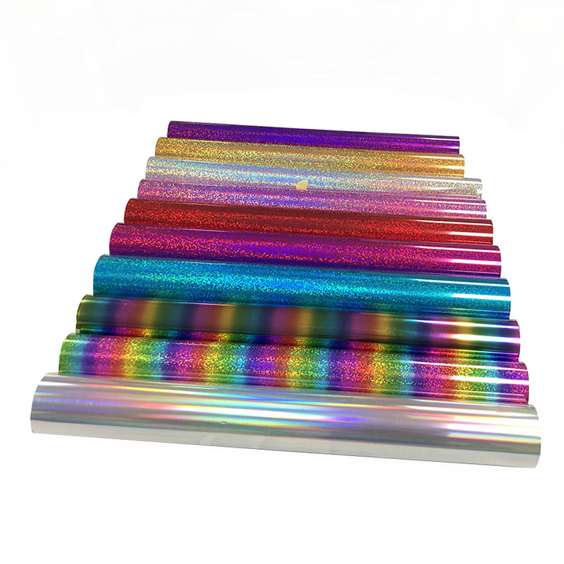 Korea quality easyweed Pu Metallic Heat Transfer FlexFoil Hologram Vinyl for clothing