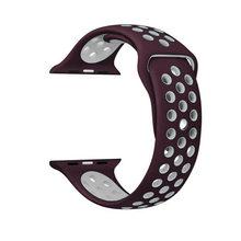 Силиконовый ремешок для Nike apple watch series 5/4/3/2 42 мм 38 мм Резиновый наручный браслет адаптер iwatch 40/44 мм Apple watch band(Китай)