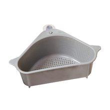 Треугольная полка для слива кухонной раковины стойка для хранения присоска для мытья чаши держатель губки для ванной угловой органайзер дл...(Китай)