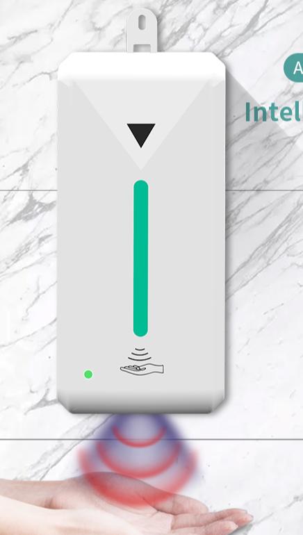 Hand sanitizer dispenser with sensor hand sanitizer dispenser