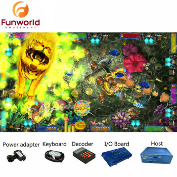 Customized Special Design Dragon Vs Tiger 8 Player Fish Arcade Game Board