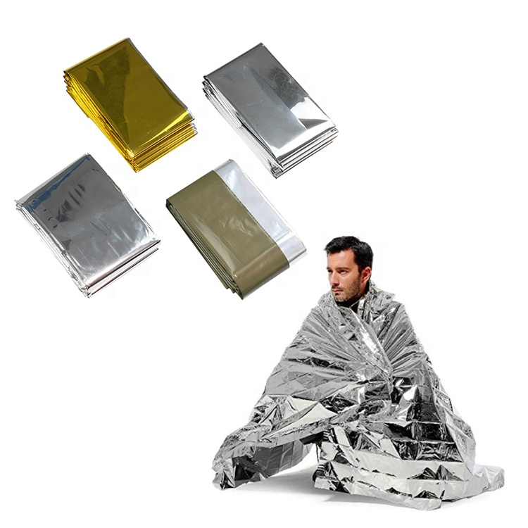 Outdoor Survival Blanket Waterproof Foil Silver Emergency Warming Thermal Mylar Blankets