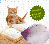 Colorful silica gel crystal cat litter crystal