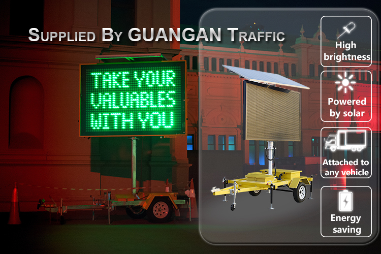 led traffic VMS mobile Trailer Mounted road solar poweredportable variable message signs