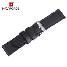 NAVIFORCE ремешок для наручных часов из натуральной кожи, темно-коричневый, черный, синий, 23 мм, высококачественный модный ремешок для часов с пр...(Китай)