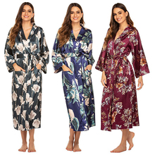 OEM digital print silk robes