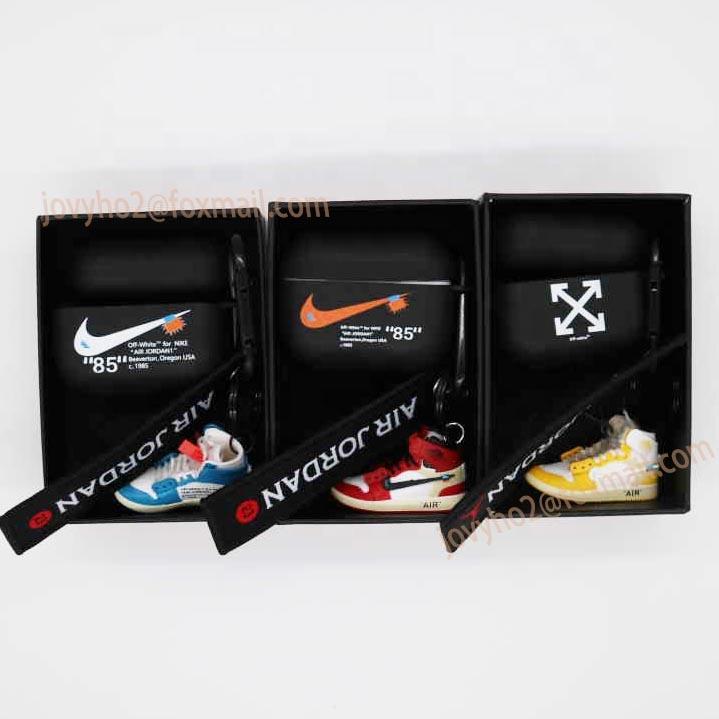2020 di vendita caldo airpods pro casi con mini 3D AJ della scarpa da tennis portachiavi trasporto di goccia