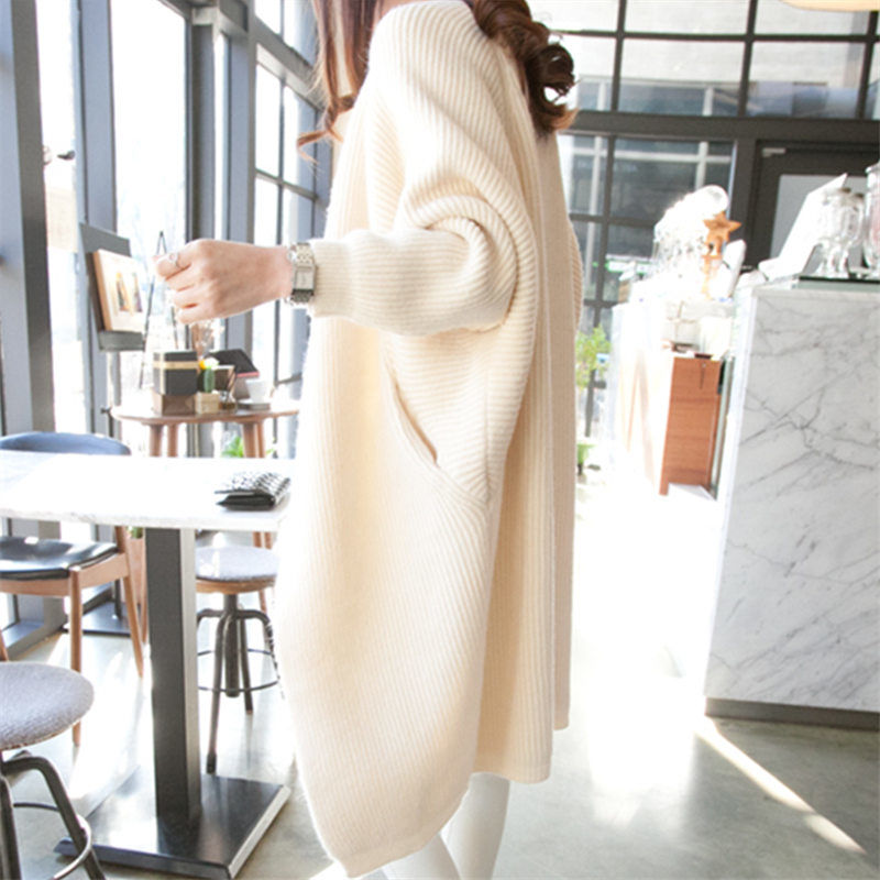 2020 Autumn spring fashion long cardigan for women knitted sweater open front fall outfits 0.8