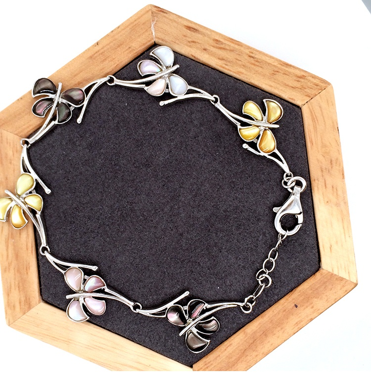 product-Esthetical Butterfly Flower 925 Sterling Silver Bracelet Made In Italy-BEYALY-img