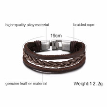Vnox мужской женский плетеный кожаный браслет Love Infinity Charm манжета подходит для 7,67 дюймов(Китай)