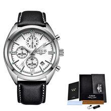 2020 LIGE мужские часы Топ бренд класса люкс водонепроницаемые кварцевые часы мужские кожаные спортивные наручные часы для мужчин Relogio Masculino + к...(Китай)