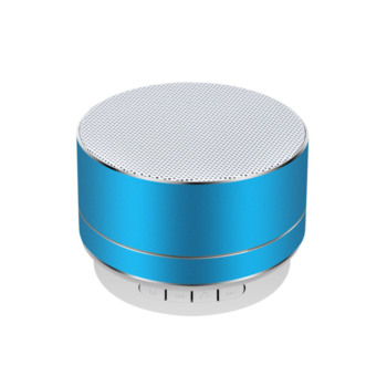 metal mini portable wireless sound speaker with Mic TF card FM radio AUX MP3 music play loud speaker