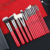15pcs Luxury suit Shiny red series Support for custom Your own brand makeup brush set