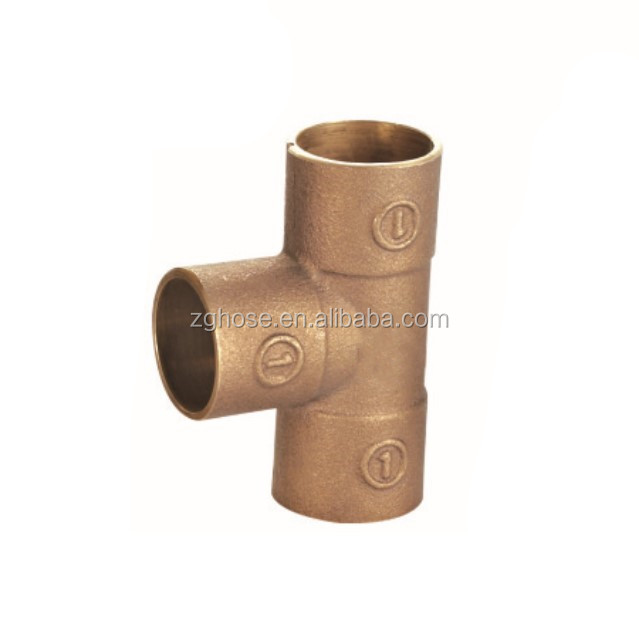 plumbing bronze Tee  fittings water connection screw sanitary fittings