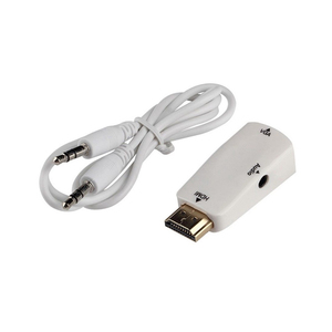 Low MOQ HDMI To VGA Adapter Converter Cable Male To Female With 3.5mm Audio Output For PS3 Xbox360 PC Laptop